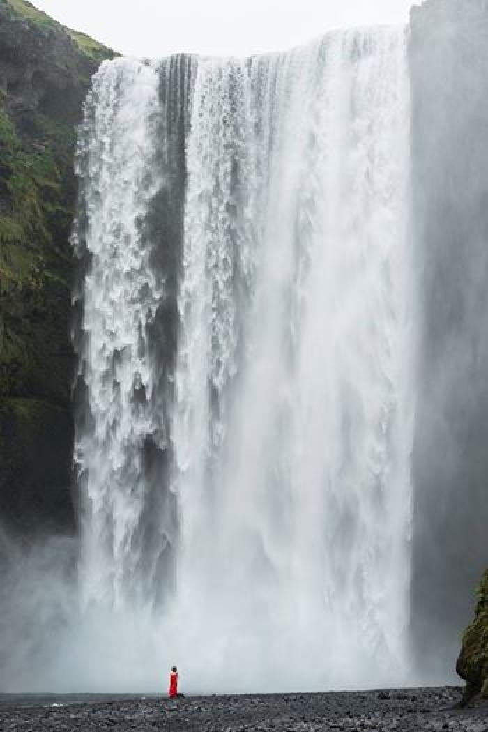 Iceland, Waterfall Skogafoss